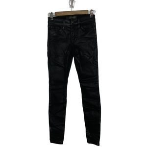 Joes Jeans Coated Black Icon Skinny Ankle Jeans 25